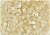 Miyuki Tila 5mm Glass Beads - Antique Ivory Silk Satin #TL2592
