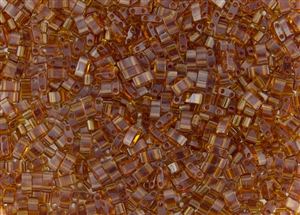 Miyuki Half Tila Bricks 2.5x5mm Glass Beads - Transparent Topaz #TLH134