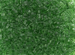 Miyuki Half Tila Bricks 2.5x5mm Glass Beads - Transparent Green #TLH146