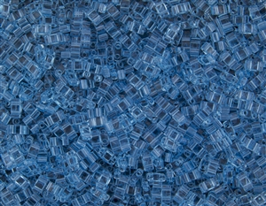 Miyuki Half Tila Bricks 2.5x5mm Glass Beads - Transparent Aqua #TLH148