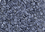 Miyuki Half Tila Bricks 2.5x5mm Glass Beads - Gunmetal Grey Metallic Matte #TLH2001