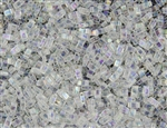 Miyuki Half Tila Bricks 2.5x5mm Glass Beads - Transparent Crystal AB #TLH250