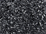 Miyuki Half Tila Bricks 2.5x5mm Glass Beads - Opaque Jet Black #TLH401