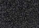 Miyuki Half Tila Bricks 2.5x5mm Glass Beads - Opaque Jet Black Matte #TLH401F