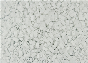 Miyuki Half Tila Bricks 2.5x5mm Glass Beads - Opaque White #TLH402