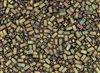 Miyuki Half Tila Bricks 2.5x5mm Glass Beads - Khaki Iris Metallic Matte #TLH2035