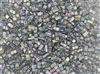 Miyuki Half Tila Bricks 2.5x5mm Glass Beads - Transparent Dark Grey AB #TLH2440D