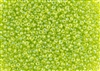 3MM Magatama Toho Japanese Seed Beads - Lime Green Transparent Rainbow #164
