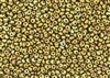 3MM Magatama Toho Japanese Seed Beads - Gold Iris Metallic Carnival Matte #513F