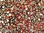 Toho Seed Bead Mix - Ocha - Bronze Mix Cubes 6/0 8/0 11/0 #3205