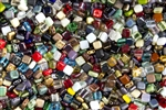 CzechMates 6mm Tiles Czech Glass Beads - 50 Pieces Assorted Mix