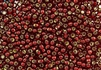 6/0 Toho Japanese Seed Beads - Red Garnet Silver Lined #25D