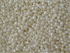 6/0 Toho Japanese Seed Beads - Light Cream Opaque Luster #122