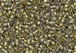 6/0 Toho Japanese Seed Beads - Lt Bronze Lined Crystal Rainbow #262