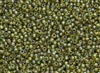 6/0 Toho Japanese Seed Beads - Peridot Bronze Lined Rainbow #996