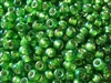 6/0 Toho Japanese Seed Beads - Green Silver Lined Rainbow #2027