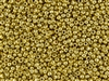 6/0 Toho Japanese Seed Beads - PermaFinish Gold Metallic #PF557