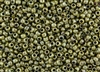 6/0 Toho Japanese Seed Beads - Hybrid Opaque Luster Green Picasso #Y182