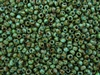 6/0 Toho Japanese Seed Beads - Hybrid Turquoise Picasso #Y307