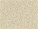 8/0 Toho Japanese Seed Beads - Off-White Cream Opaque Luster #123L