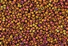 8/0 Toho Japanese Seed Beads - Raku Copper Gold Iris Metallic Matte #514F