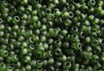 8/0 Toho Japanese Seed Beads - Olivine Green Transparent Matte #940F