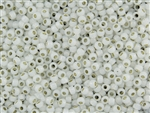 8/0 Toho Japanese Seed Beads - Permanent Finish White Opal Silver Lined #PF2100