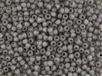 8/0 Toho Japanese Seed Beads - Permanent Finish Black Diamond Opal Silver Lined #PF2115