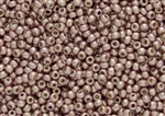 8/0 Toho Japanese Seed Beads - PermaFinish Subtle Pink Metallic #PF552