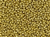 8/0 Toho Japanese Seed Beads - PermaFinish Gold Metallic #PF557