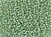 8/0 Toho Japanese Seed Beads - PermaFinish Light Green Lime Metallic #PF570