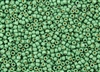 8/0 Toho Japanese Seed Beads - PermaFinish Spearmint Metallic Matte #PF588F