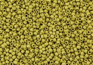 8/0 Toho Japanese Seed Beads - PermaFinish Lemon Gold Metallic Matte #PF590F