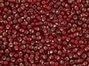 11/0 Toho Japanese Seed Beads - Dark Ruby Red Silver Lined Matte #25CF