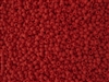 11/0 Toho Japanese Seed Beads - Red Matte Opaque #45F