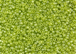 11/0 Toho Japanese Seed Beads - Lime Green Transparent Luster #105