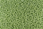 11/0 Toho Japanese Seed Beads - Light Green Opaque Luster #130L