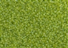 11/0 Toho Japanese Seed Beads - Lime Transparent Rainbow Matte #164F