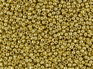 11/0 Toho Japanese Seed Beads - PermaFinish Gold Metallic #PF557