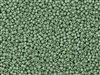 11/0 Toho Japanese Seed Beads - PermaFinish Mint Green Metallic Matte #PF570F