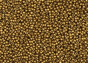 11/0 Toho Japanese Seed Beads - Matte Metallic Goldenrod #Y602