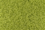 15/0 Toho Japanese Seed Beads - Lime Green Transparent Matte #4F