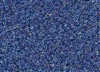 15/0 Toho Japanese Seed Beads - Blue Lined Crystal Luster #189