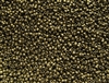 15/0 Toho Japanese Seed Beads - Olive Brown Metallic Matte #702