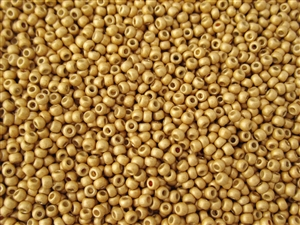 15/0 Toho Japanese Seed Beads - Permanent Finish Gold Metallic Matte #PF557F