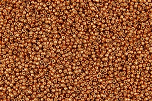 15/0 Toho Japanese Seed Beads - PermaFinish Burnt Copper Metallic #PF573