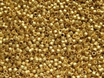 Toho Treasures Cylinder Beads - 24K Gold Plated Metallic Matte #712F