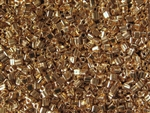 11/0 Triangle Toho Seed Beads - 24K Gold Plated #712