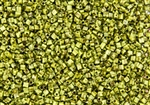 11/0 Triangle Toho Seed Beads - Hybrid Sour Green Apple Picasso #Y310