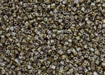 11/0 Triangle Toho Seed Beads - Hybrid Grey Picasso Opaque #Y312
